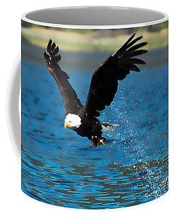 Coffee Mug featuring the photograph Bald Eagle Fishing by Don Schwartz