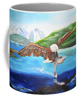 Bald Eagle Having Dinner Coffee Mug