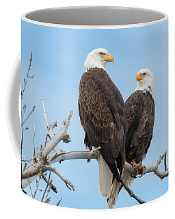 Bald Eagle Mates Form A Heart Coffee Mug