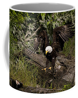 Coffee Mug featuring the photograph Bald Eagle-signed-#1249 by J L Woody Wooden
