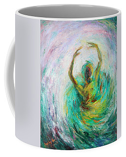 Coffee Mug featuring the painting Ballerina by Xueling Zou