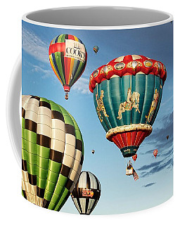 Coffee Mug featuring the photograph Balloons Away by Dave Files