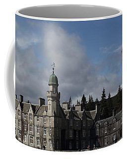 Coffee Mug featuring the photograph Balmoral Castle In A Closeup Panorama by Maria Gaellman