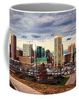 Baltimore Inner Harbor Skyline Panorama Coffee Mug