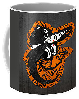 Baltimore Orioles Vintage Baseball Logo License Plate Art Coffee Mug