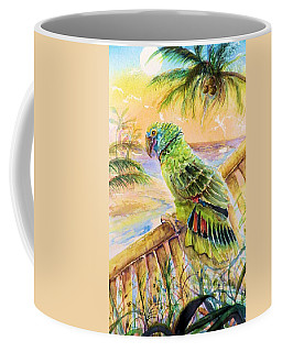 Banana Tree And Tropical Bird Coffee Mug