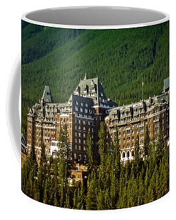 Coffee Mug featuring the photograph Banff Springs Hotel by Richard Farrington
