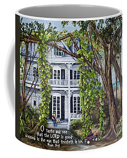 Banyan Beach House Psalm 34 Coffee Mug