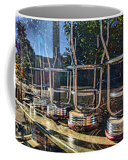 Coffee Mug featuring the photograph Bar Stools Up by Daniel Sheldon