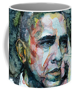 Coffee Mug featuring the painting Barack by Laur Iduc