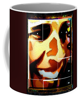 Coffee Mug featuring the digital art Barack Obama by Daniel Janda