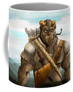 Coffee Mug featuring the painting Baragh The Hoargg Warrior by Reynold Jay