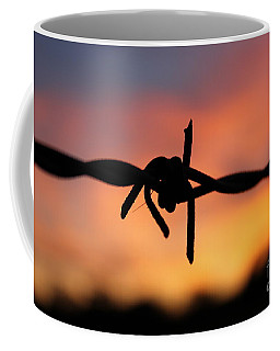 Coffee Mug featuring the photograph Barbed Silhouette by Vicki Spindler