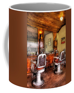 Barber - The Barber Shop II Coffee Mug by Mike Savad