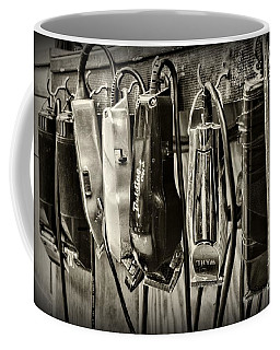 Barbershop Clippers In Black And White Coffee Mug