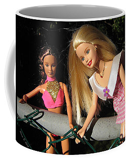 Coffee Mug featuring the photograph Barbie Escapes by Nina Silver