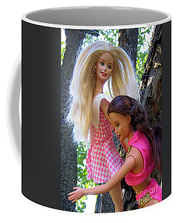 Coffee Mug featuring the photograph Barbie's Climbing Trees by Nina Silver