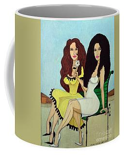 Coffee Mug featuring the painting Barcelona Girls by Don Pedro De Gracia