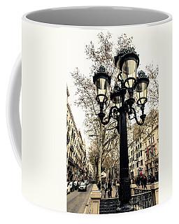 Barcelona - La Rambla Coffee Mug by Andrea Mazzocchetti