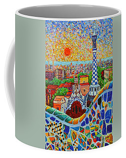 Barcelona Sunrise - Guell Park - Gaudi Tower Coffee Mug