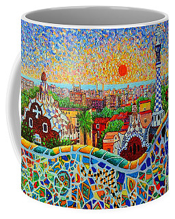 Barcelona View At Sunrise - Park Guell  Of Gaudi Coffee Mug
