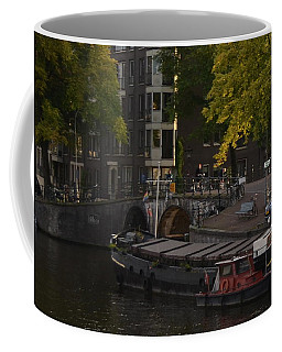barges in Amsterdam Coffee Mug