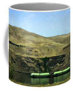 Barges On The Columbia Coffee Mug