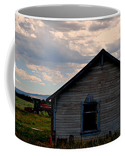 Coffee Mug featuring the photograph Barn And Tractor by Matt Harang