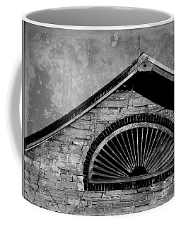 Barn Detail - Black And White Coffee Mug