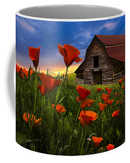 Barn In Poppies Coffee Mug