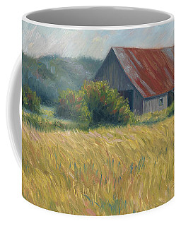 Barn In The Field Coffee Mug