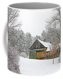 Barn In Winter Coffee Mug