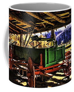 Coffee Mug featuring the painting Barn by Muhie Kanawati