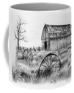 Barn With Crows Coffee Mug