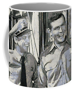 Barney Fife And Andy Taylor Coffee Mug