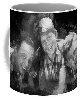 Barney Opie And Andy Coffee Mug by Paulette B Wright