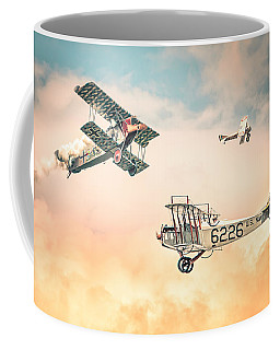Barnstormers In The Golden Age Of Flight - Replica Fokker D Vll - Spad 7 - Curtiss Jenny Jn-4h Coffee Mug