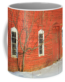 Coffee Mug featuring the photograph Barnwall In Winter by Rodney Lee Williams
