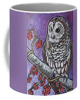 Barred Owl And Berries Coffee Mug