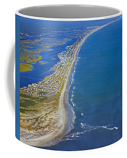 Barrier Island Aerial Coffee Mug