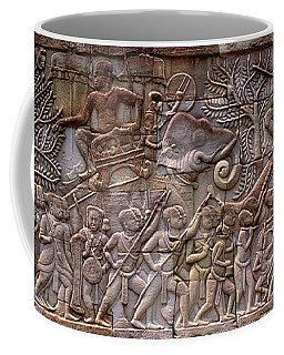 Bas Relief Angkor Wat Cambodia Coffee Mug