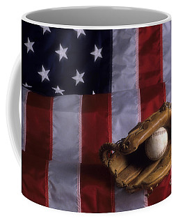 Baseball And American Flag Coffee Mug