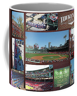 Coffee Mug featuring the photograph Baseball Collage by Barbara McDevitt
