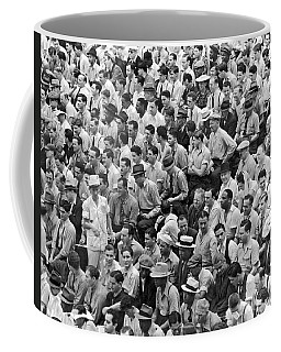 Baseball Fans In The Bleachers At Yankee Stadium. Coffee Mug