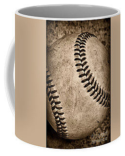 Baseball Old And Worn Coffee Mug