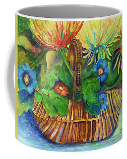 Flowers In My Basket Coffee Mug