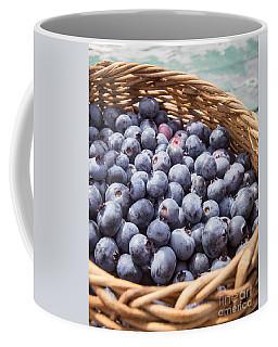 Basket Of Fresh Picked Blueberries Coffee Mug