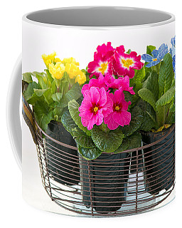 Basket Of Primroses Coffee Mug