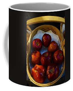 Basket Of Red Apples Coffee Mug