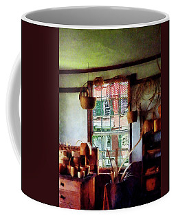 Coffee Mug featuring the photograph Basket Shop by Susan Savad